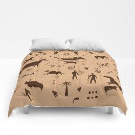 Cave Art Pattern Illustration Comforters