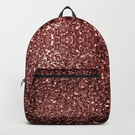Beautiful Glam Marsala Brown-Red Glitter sparkles Backpack