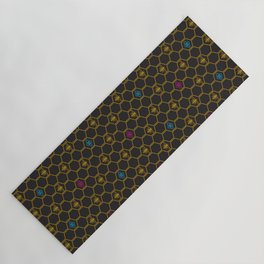 Bee Blossoms Yoga Mat