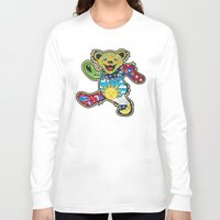 grateful dead Long Sleeve T-shirts featuring Grateful Dead (Vector Art) by Troy Arthur Graphics