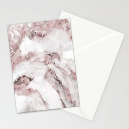White and Pink Marble Mountain 01 Stationery Cards