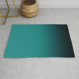 Black and turquoise Ombre . Rug