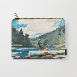 Logging on the Hudson River Carry-All Pouch