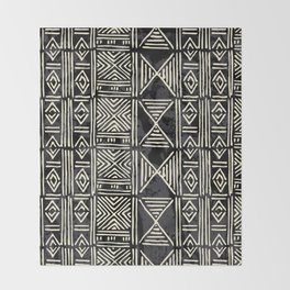 Tribal mud cloth pattern Throw Blanket