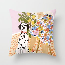 The Chaotic Life Throw Pillow