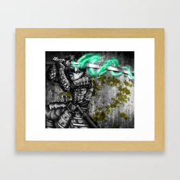 Samurai warrior Framed Art Print