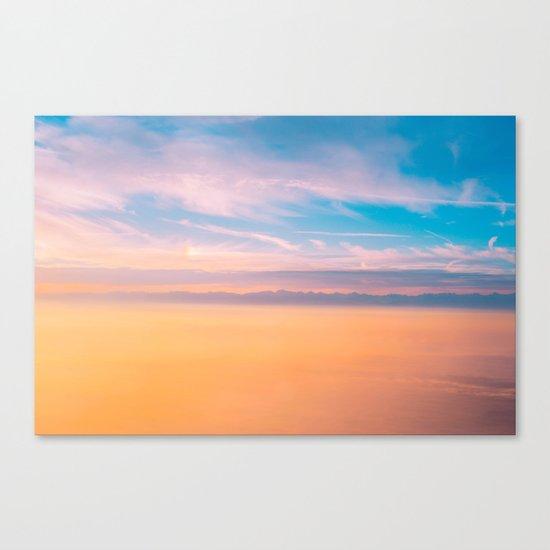 Romantic sky Canvas Print