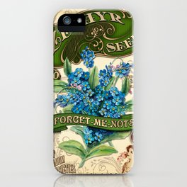 Forget-Me-Nots Seed Packet Template iPhone Case