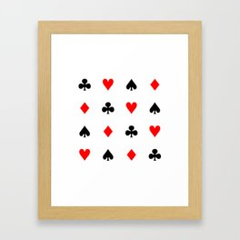 Playing cards pattern Framed Art Print
