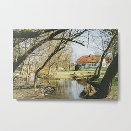 Spring in the countryside Metal Print