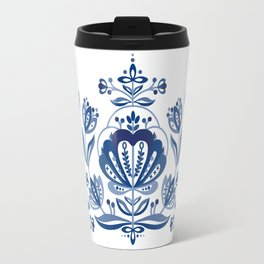 Nordic Blue Rose Travel Mug