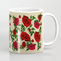 roses Mugs featuring roses  by mark ashkenazi