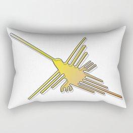 Nazca Lines Hummingbird Rectangular Pillow