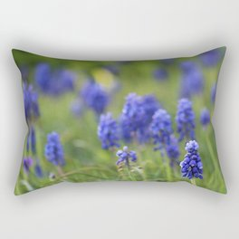 Grape Hyacinth in Spring Rectangular Pillow