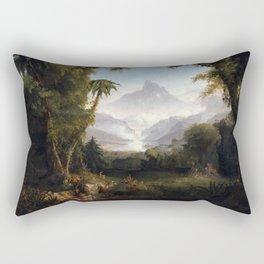Thomas Cole The Garden of Eden Rectangular Pillow