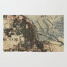 Vintage Map of Tacoma Washington (1895) Rug