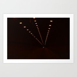 tunnel lights Art Print