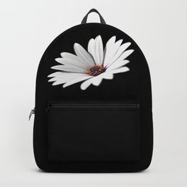Daisy flower blooming close-up Backpack