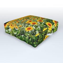 Field of Sunny Flowers Outdoor Floor Cushion