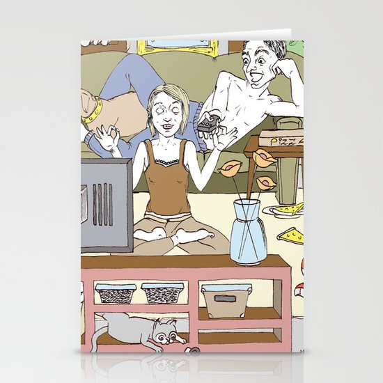 Living together Stationery Cards