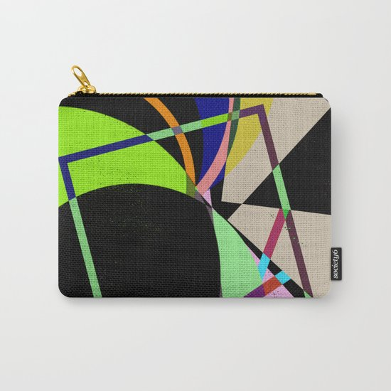 Retro Pastel X - Abstract, geometric, scandinavian pattern artwork Carry-All Pouch