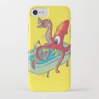 kraken iPhone & iPod Cases featuring kraken by Caramela