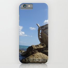 Old Greek fishing boat Zakynthos iPhone Case