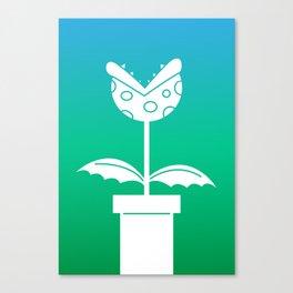 Negative Piranha Plant Canvas Print