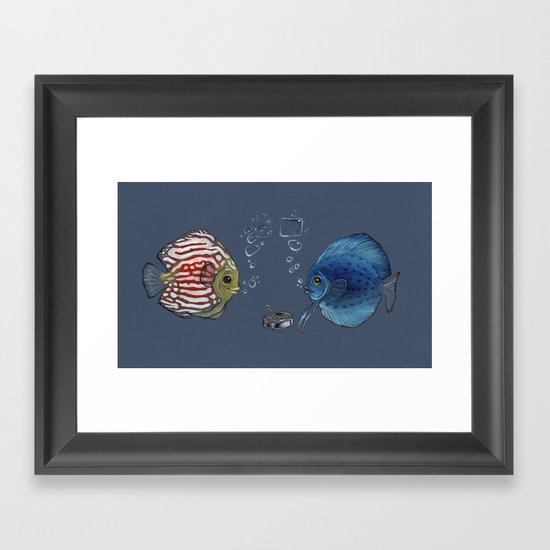 Paper Rock Scissors Framed Art Print