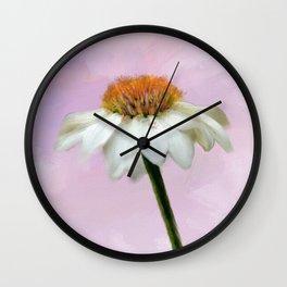 Summer Cone Flower Wall Clock
