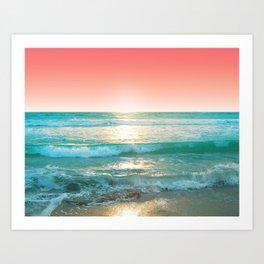 Aqua and Coral, 1 Kunstdrucke