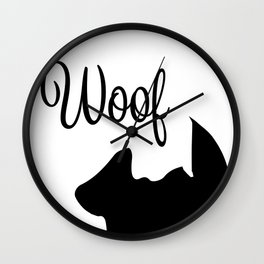 Dog Silhouette Wall Clock