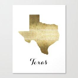 texas gold foil Canvas Print