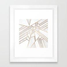 White Night Framed Art Print