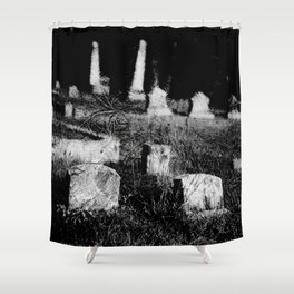 4x5 black and white film photogaph. limited edits. no flters. Shower Curtain