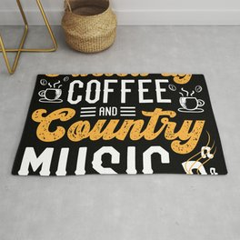 Fueled By Coffee Country Music Band Cafe Rug