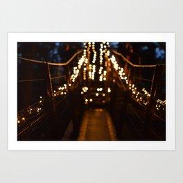 Lights lead the way Art Print