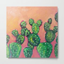 Prickly Pear Cacti Metal Print