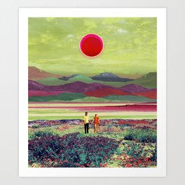 Walking under the sun Art Print