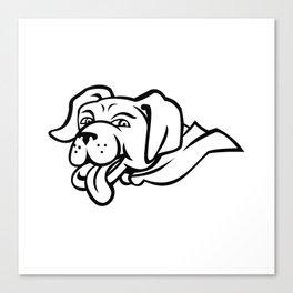 Labrador Retriever Dog Wearing Cape Mascot Canvas Print