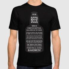 BEER PRAYER version 2.0 Mens Fitted Tee MEDIUM Black