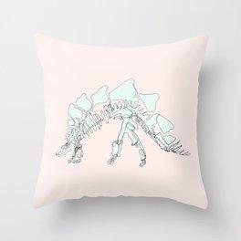 Pastel Stegasaurus Throw Pillow