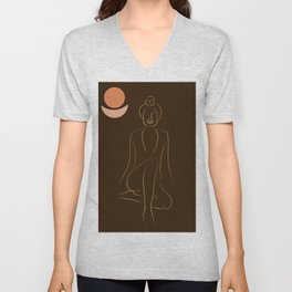 African American woman magic melanin beauty  Unisex V-Neck