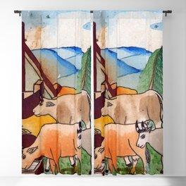 BETHLEHEM PROSPECTUS 1 (Painted Shed) Blackout Curtain