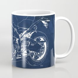 22-2013 HP4 BLUE, Blueprint motorcycle Coffee Mug