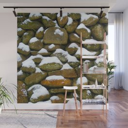 Stone Cold - Snowy Stones - Rock Art Wall Mural