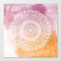 SUMMER LEAVES MANDALA Canvas Print