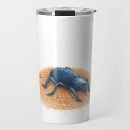 Blue Death Feigning Beetle Travel Mug