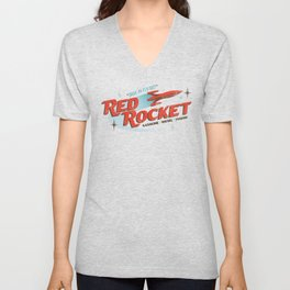 Red Rocket Unisex V-Neck