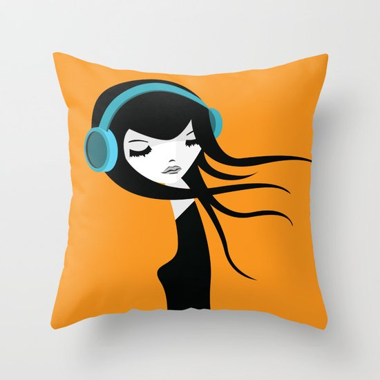Flow In The Music Throw Pillow